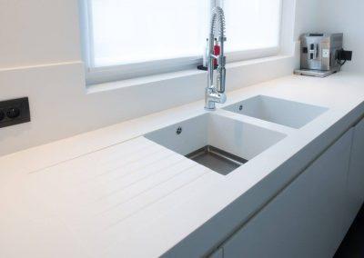 Afwasbak - keuken - corian - solid surface - maatwerk