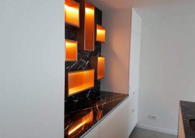 Poolhouse koperkleur nissen met verlichting - laminaat koperkleur